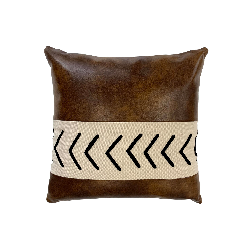 Cena PU Leather & Cotton Cushion 45 x 45cm