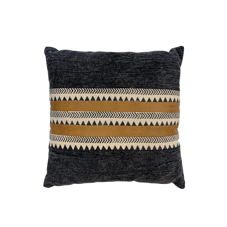 Carma Suede & Cotton Cushion 45cm x 45cm