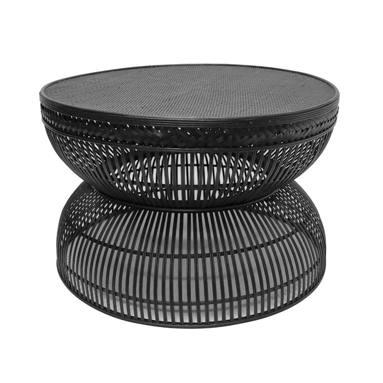 Rattan Coffee Table Black