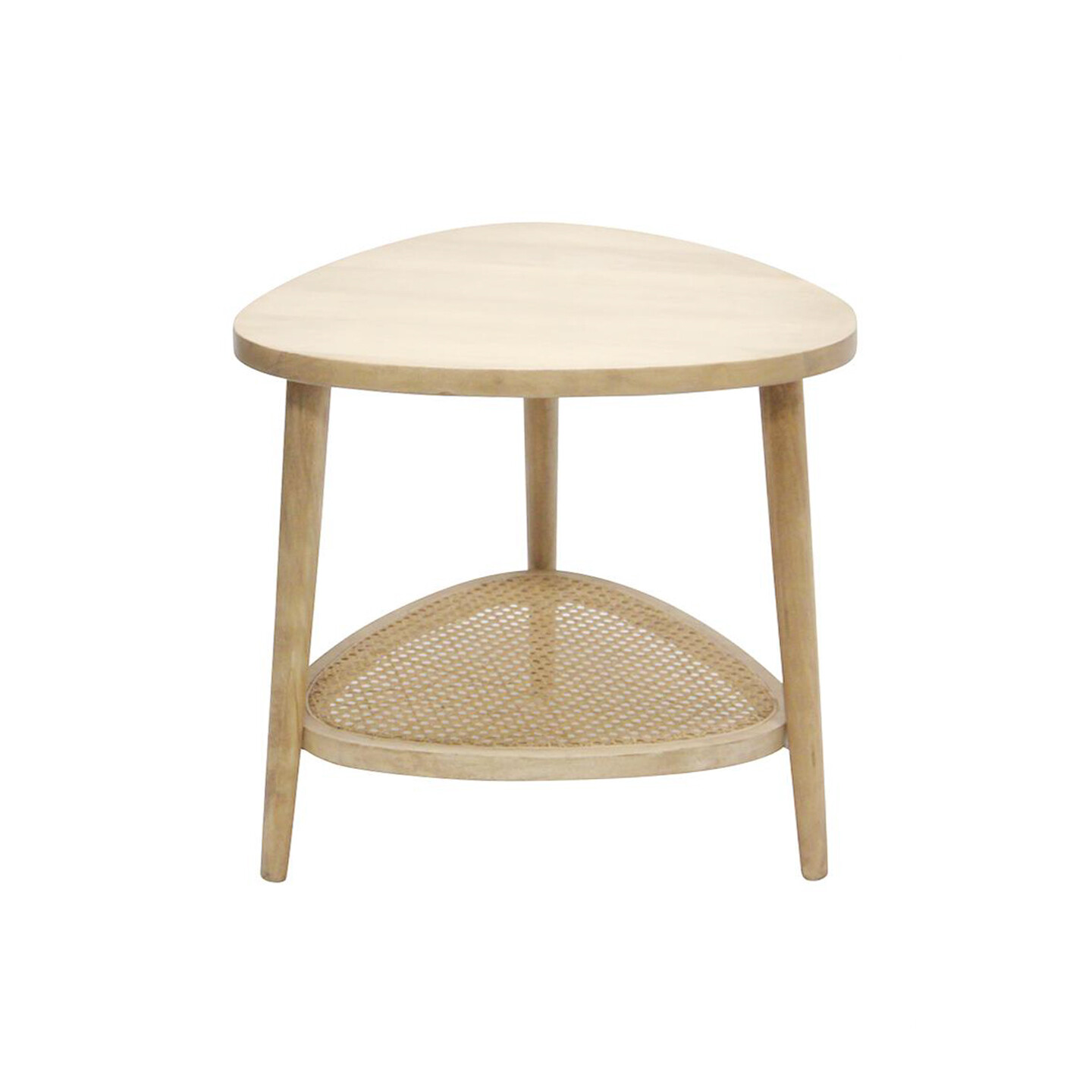Mangowood Sidetable with Rattan
