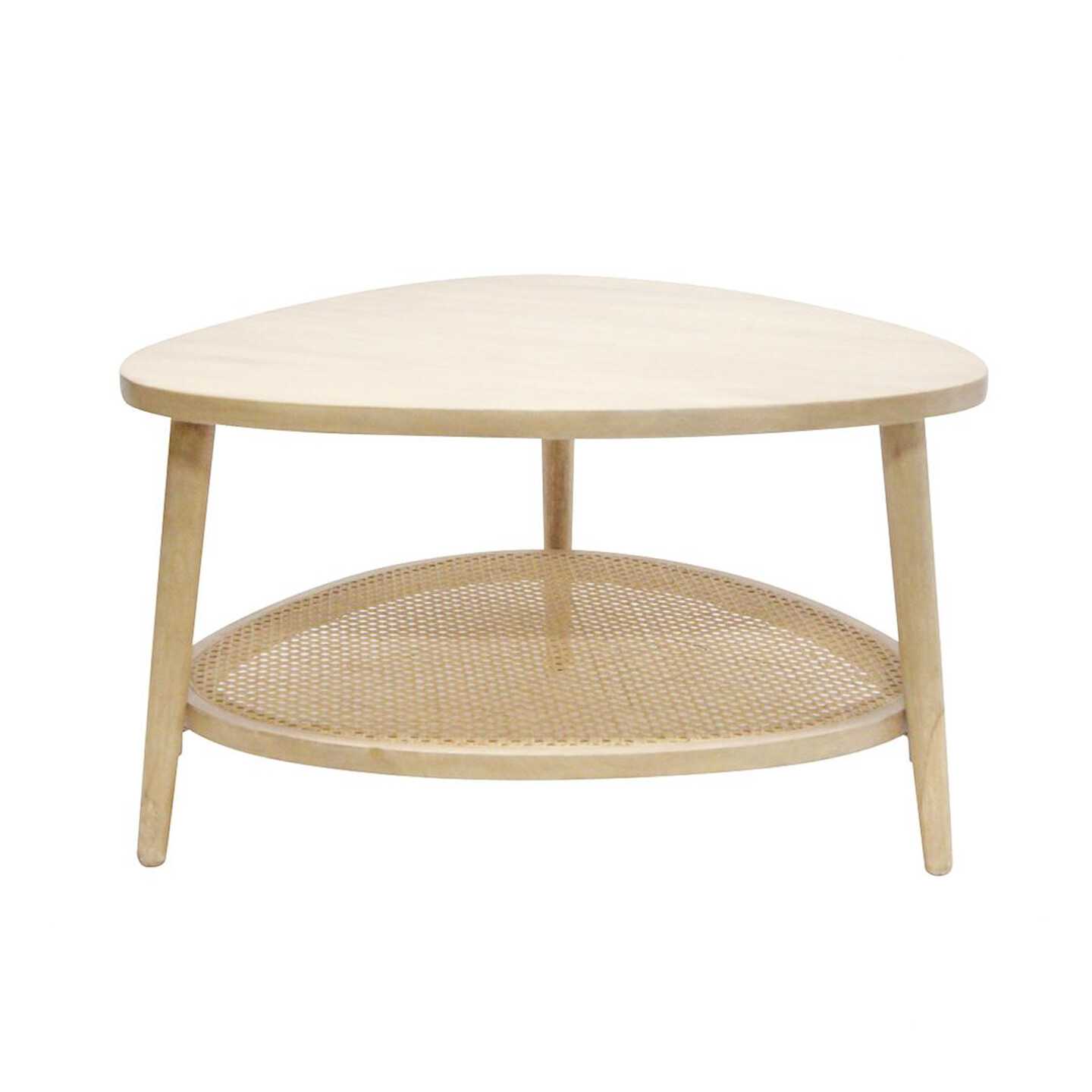 Mangowood Coffe Table with Rattan