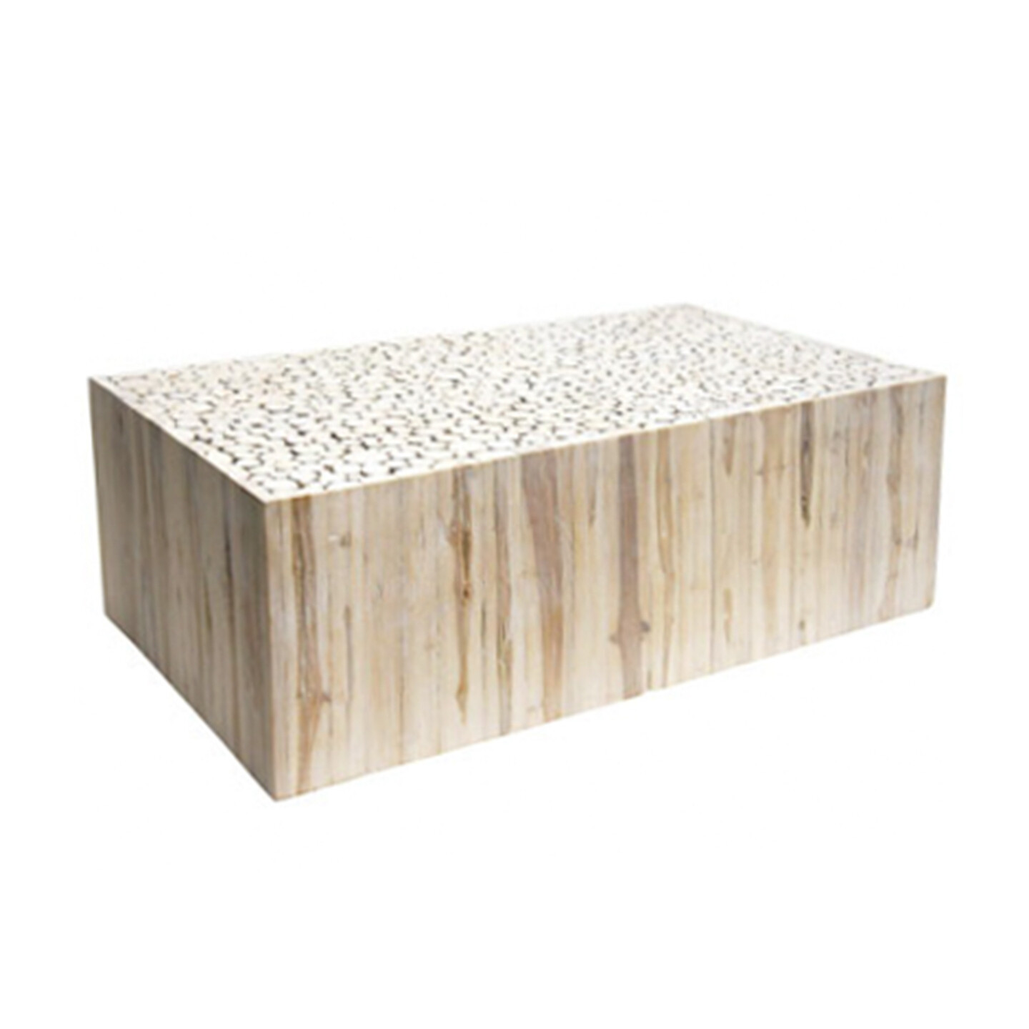 White Washed Teak Coffee Table