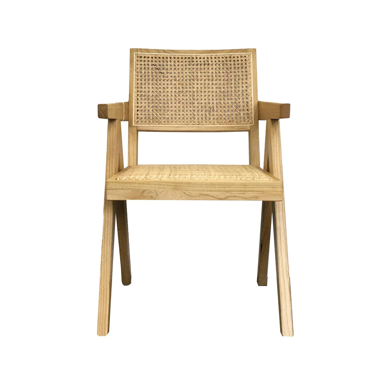Rattan Arm Dining Chair Nat