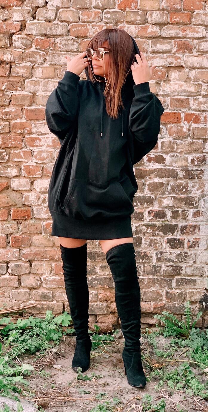 Pullover Black-Hoody