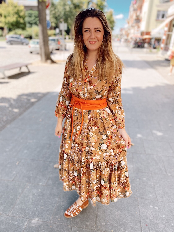 Dress Flowers Brown