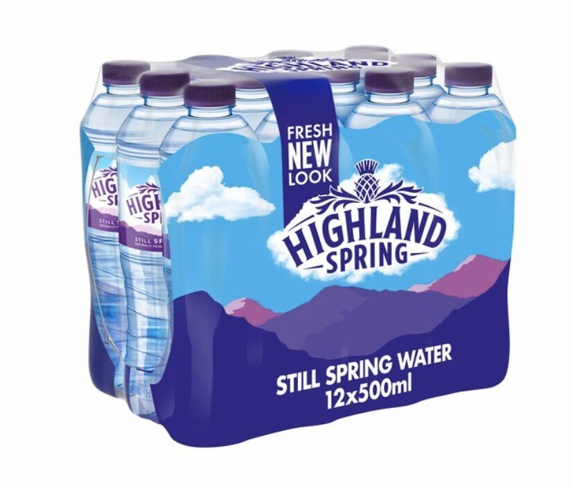Highland Spring Still Water 12 X 500ml
