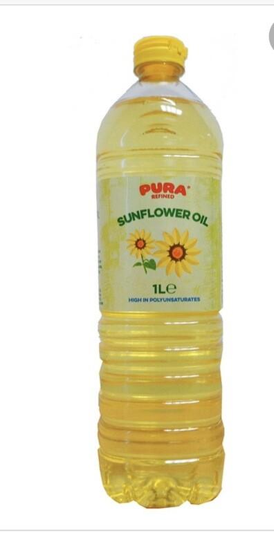 Pura Sunflower Oil 1litre