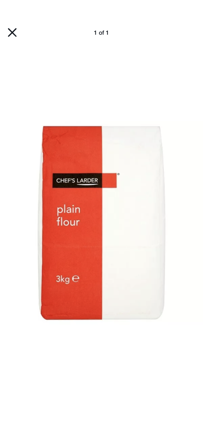 Plain Flour 3kg Large Bag