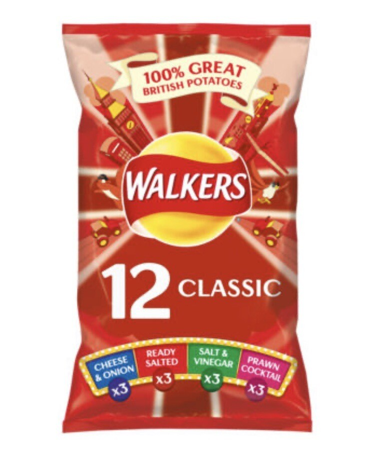 Walkers Crisps 12 Pack Classic