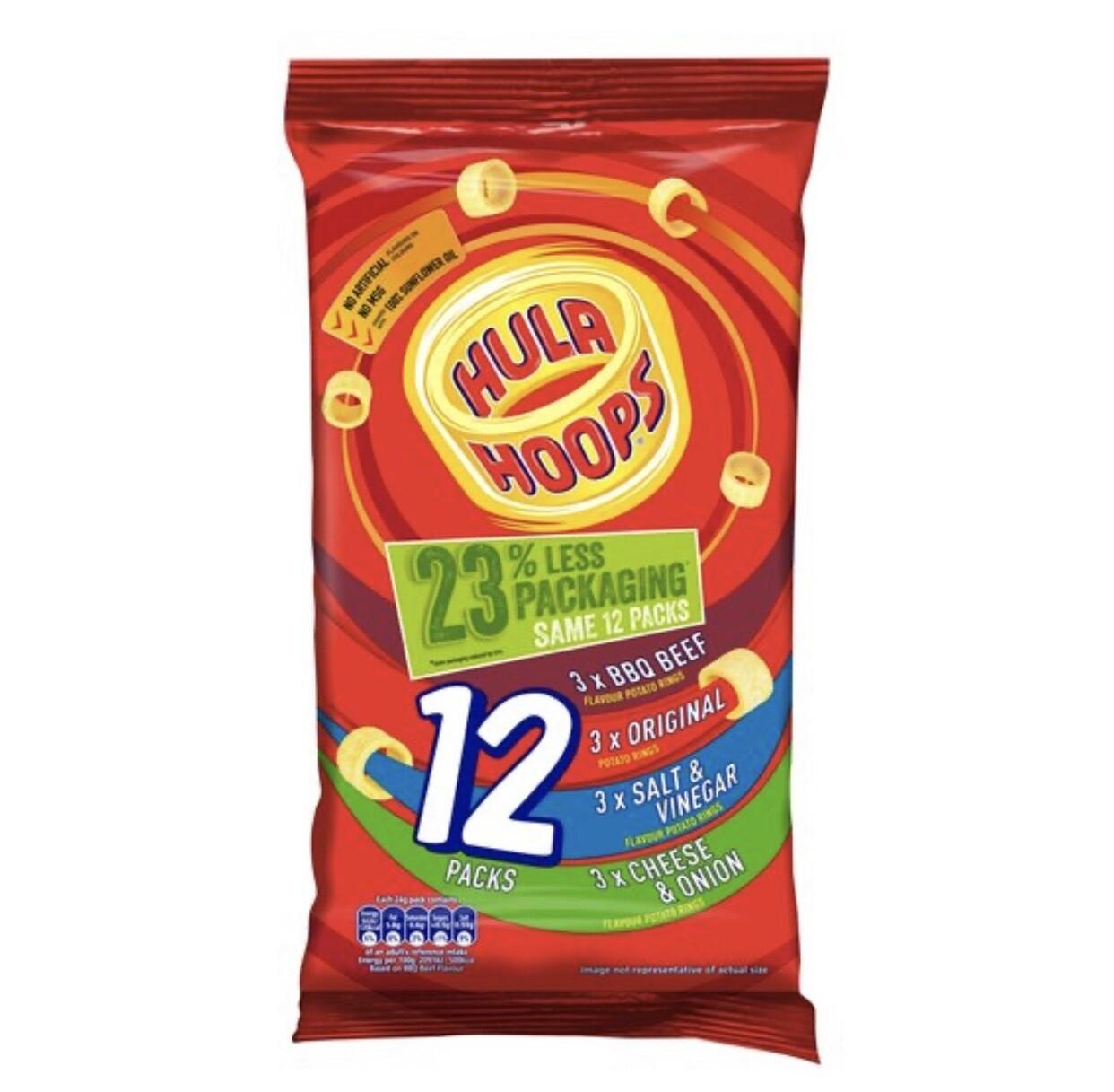 Hula Hoops Variety Pack 12X24g
