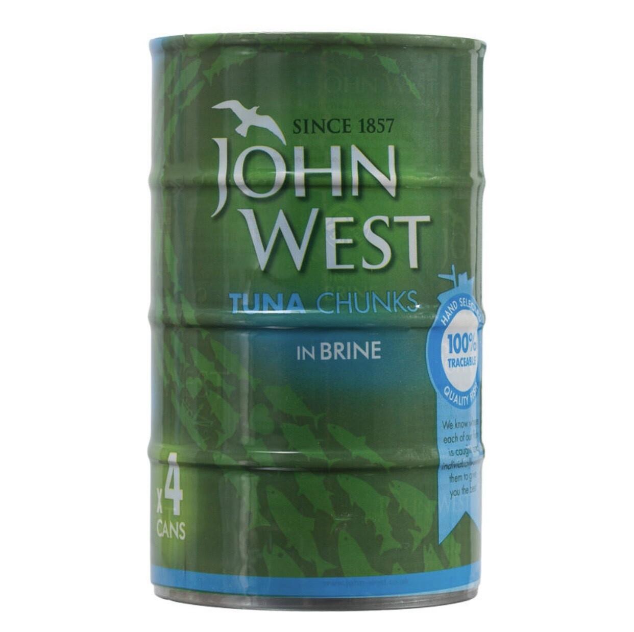 John West Tuna Chunks in Brine 4 x 132g