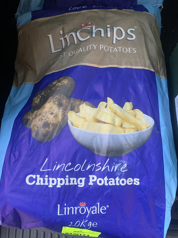 Sack of Potatoes - 20kg  Lin Chips Best - Roasting/mashing/ All Rounder
