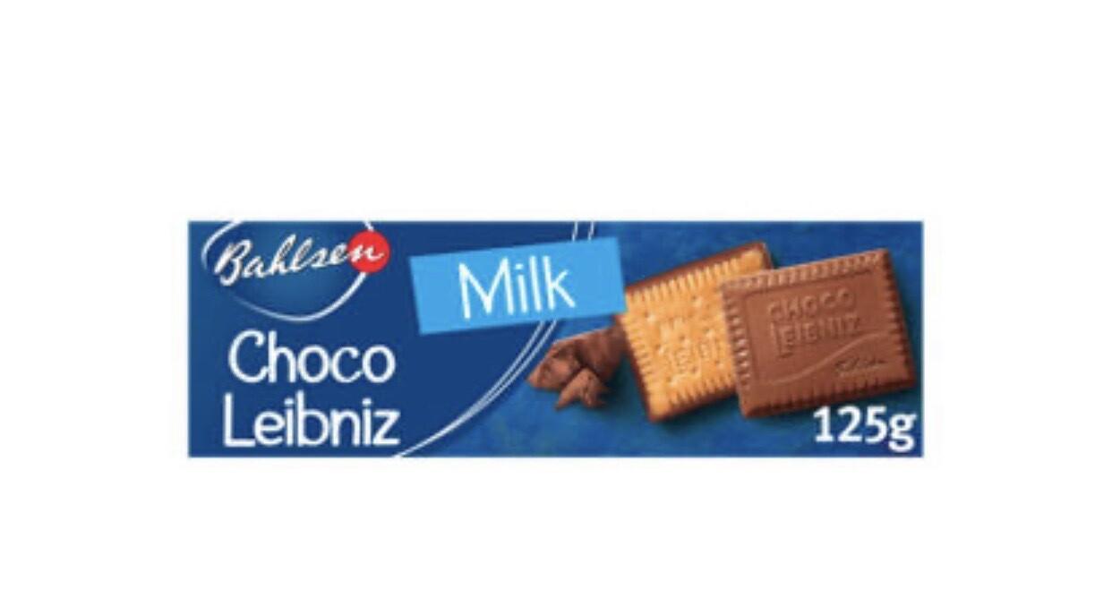 Bahlsen Choco Leibniz Milk Chocolate Biscuits 125g