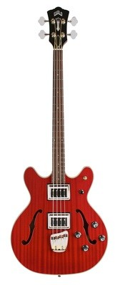 Guild Starfire II Bass - Cherry Red - Semi-Hollow Body - Dual Pickup Electric Bass Guitar