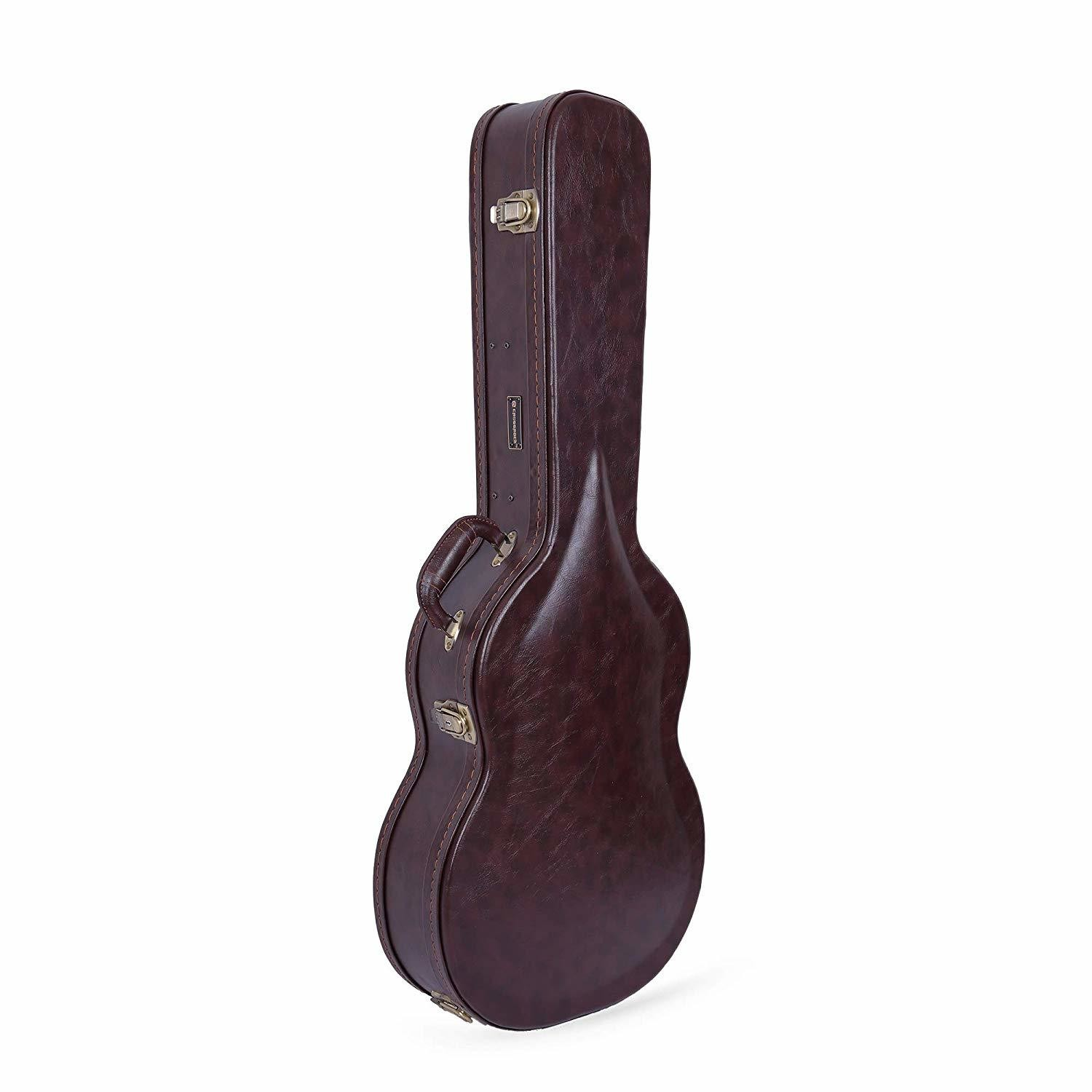 Crossrock CRW600CBR - Brown Vinyl Covered Wood - Hardshell Case