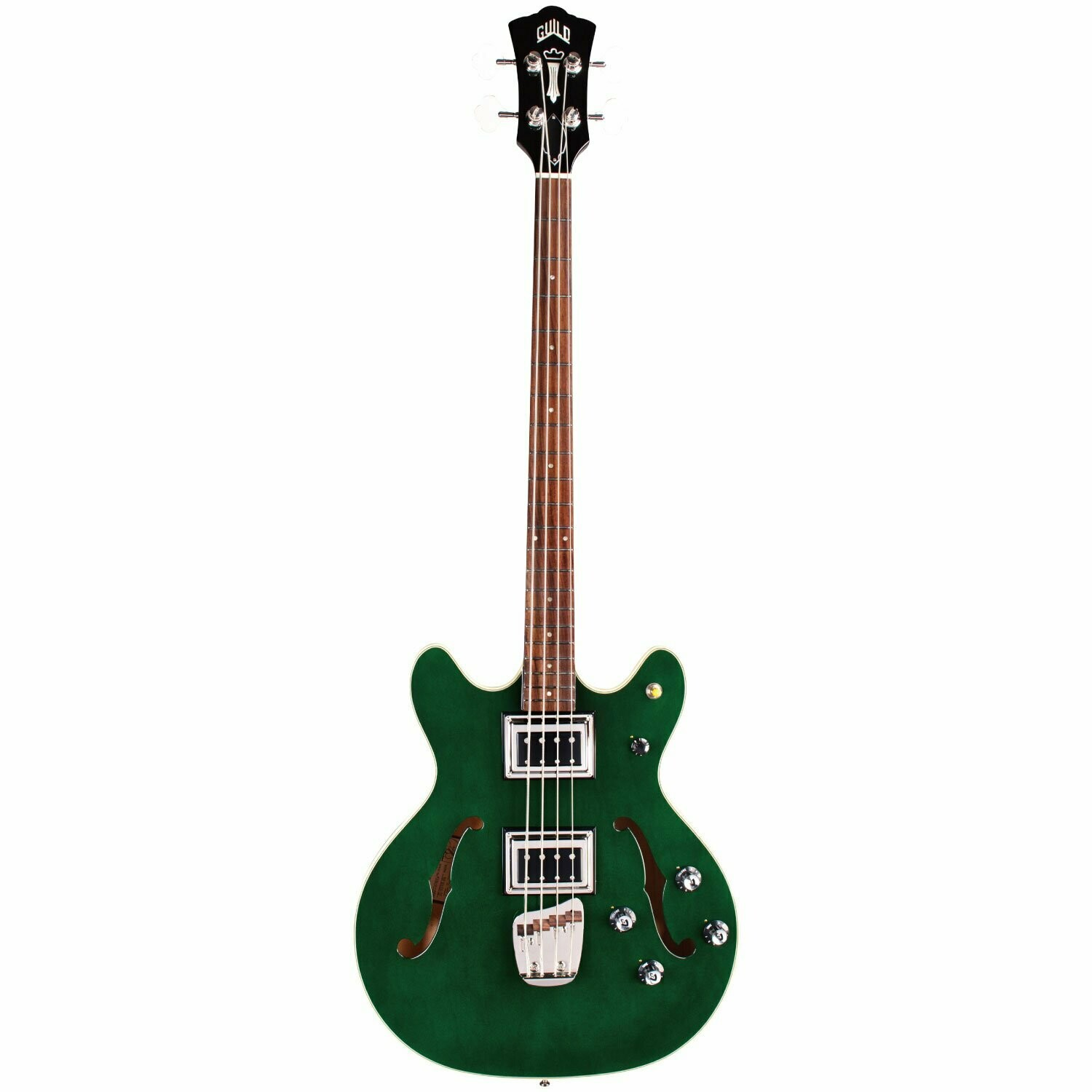 Guild Starfire II Bass - Emerald Green - Semi-Hollow Body - Dual Pickup Electric Bass Guitar