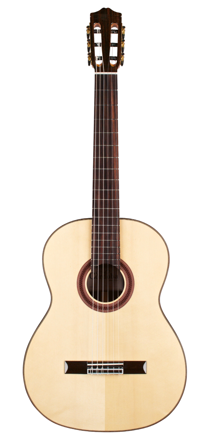 Cordoba C7 - Solid Spruce Top - Indian Rosewood Back/Sides - Nylon String Classical Guitar with Cordoba Digital Tuner and Cordoba Deluxe Gig Bag