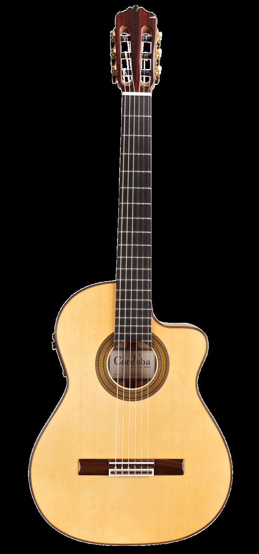 Cordoba FCWE Gipsy Kings Reissue - Acoustic Electric Nylon String Thin Body Flamenco Guitar - Made in Spain