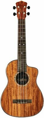 Cordoba 35T-CE, All Solid Acacia, Acoustic-Electric Tenor Cutaway Ukulele with Polyfoam Case