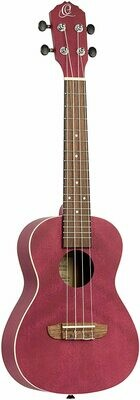 Ortega EARTH SERIES, 4-String Ukulele, Right, Raspberry, Concert (RURUBY)