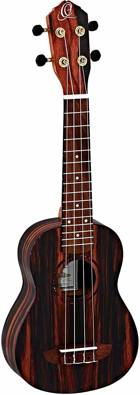 Ortega Timber Series, 4-String Ukulele, Right (RUEB-SO)