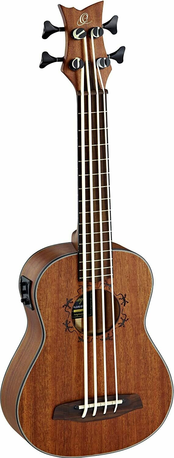 Ortega Ukulele Bass - Lizard Series 4 String Ukebass, LIZZY-BS-GB
