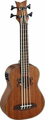 Ortega Ukulele Bass - Lizard Series 4 String Ukebass, LIZZY-BS-GB