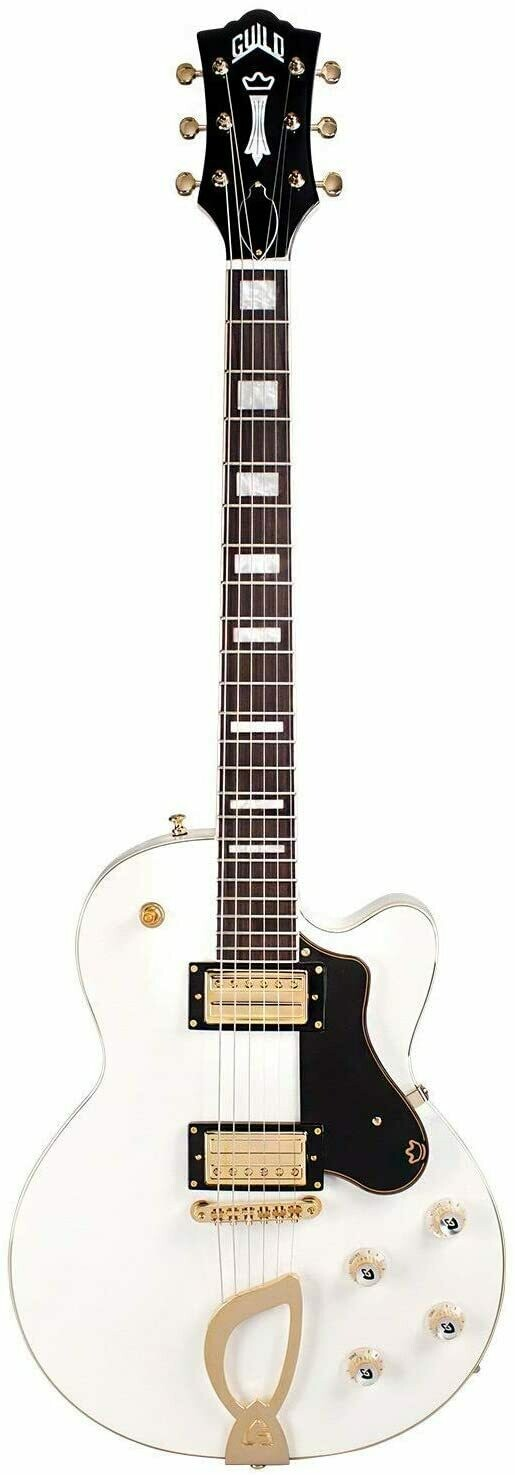 Guild Aristocrat HH Snow Crest White - Solid Body Electric Guitar - 2020