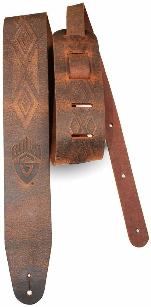 Guild Guitars Americana Deluxe Tooled Leather Guitar Strap - Brown