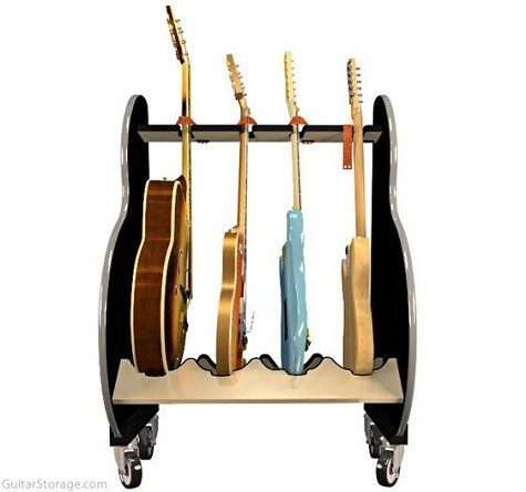 Session Pro Mobile Guitar Rack - 4 or 8 Guitars