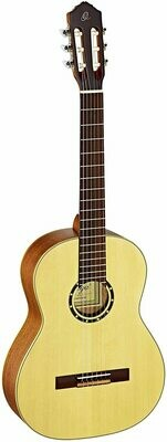 Ortega Guitars R121 - ⅞ Size - 615mm - Spruce Top/Mahogany Body, Satin Finish with Gig Bag