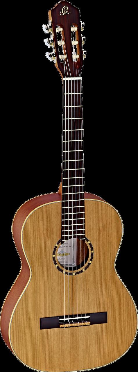 Ortega Guitars R122 - ⅞ Size - 615mm - Cedar Top/Mahogany Body, Satin Finish with Gig Bag