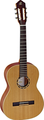 Ortega Guitars R122 - ⅞ Size - 615mm - Cedar Top/Mahogany Body, Satin Finish with Gig Bag