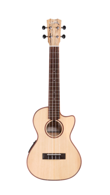 Cordoba 24T-CE - Tenor Acoustic Electric Ukulele, Solid Spruce Top, Spalted Maple Back/Sides