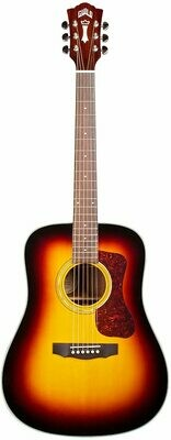 Guild D-140 Antique Burst Dreadnought Acoustic Guitar with Guild Polyfoam Case