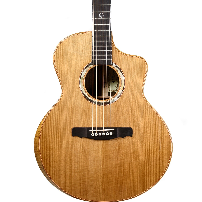 Yulong Guo Steel String Guitar, Cedar Double Top, Solid Ziricoté Back/Sides
