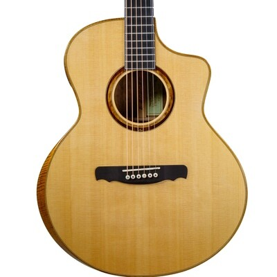 Yulong Guo Steel String Guitar, Spruce Double Top, Solid Koa Back/Sides