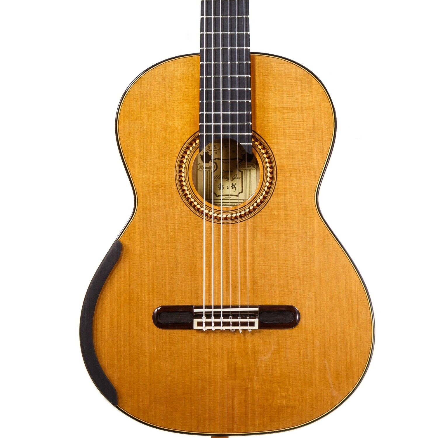 Yulong Guo Concert Model - Cedar Double Top, solid Koa Back/Sides - 650mm Scale Length - 2019-037