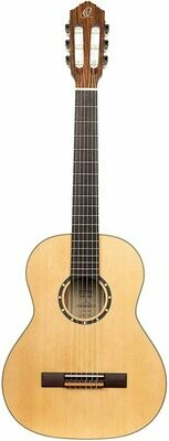 Ortega R121L ¾ Size - Left Handed, Spruce top, Mahogany back/sides with Deluxe Gig Bag