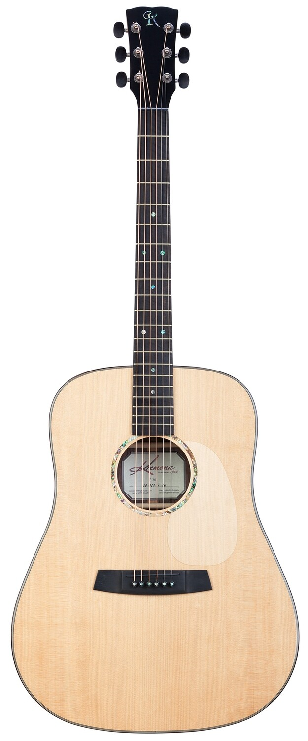 Kremona R30 - Dreadnought Steel String Acoustic Guitar - Solid Spruce top, Solid Indian Rosewood back/sides, Handmade in Bulgaria, Includes Deluxe Hardshell Case