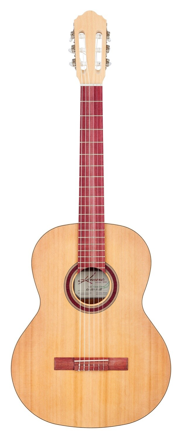 Kremona S65 C GG - Classical Guitar - Solid Cedar top, Mahogany back/sides, Purple Heart fretboard, Green Global Series, Includes deluxe gig bag
