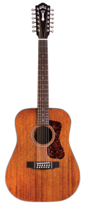 Guild D-1212 Natural - Dreadnought 12 String Acoustic Guitar