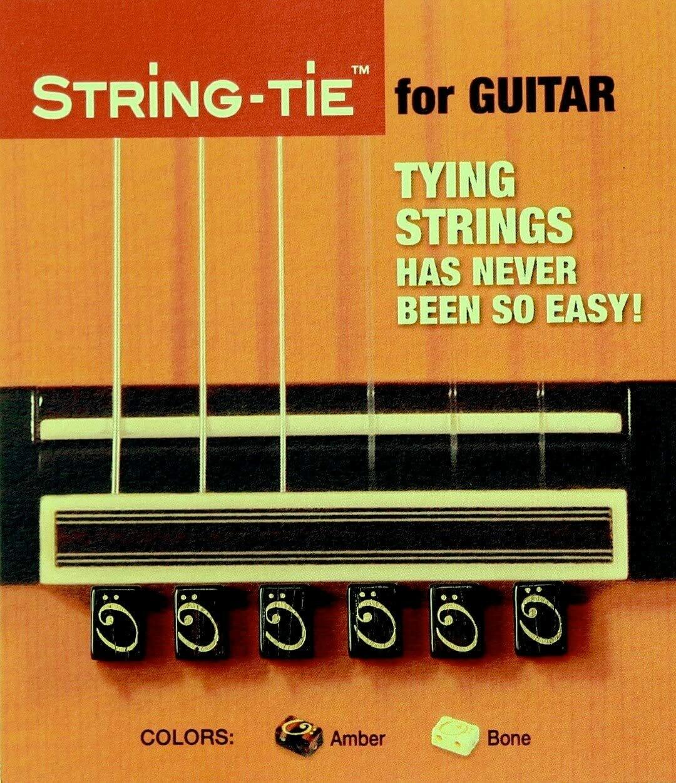 Tenor String Ties - Ebony, Bone White, or Amber