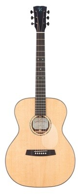 Kremona R35 OM (Orchestra Model) - All Solid Wood - Spruce top, Indian Rosewood back/sides - Includes Deluxe Hardshell Case