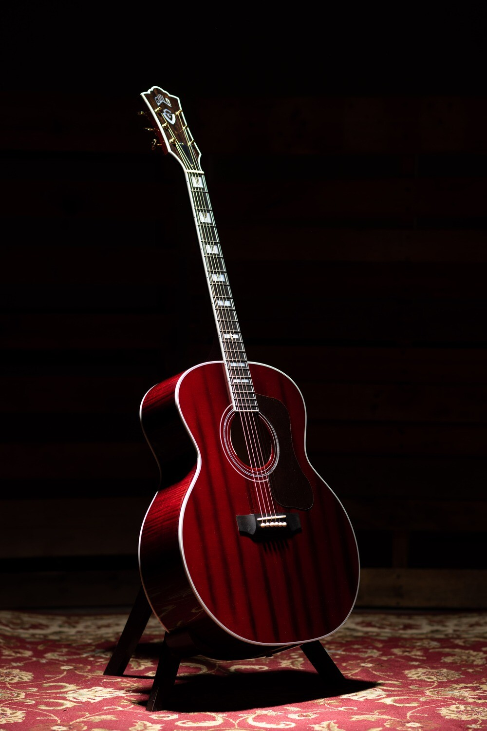 Guild F-55E Oxblood - GSR - All Solid - Sitka Spruce top, Maple Back/Sides - Made in the USA - 2020