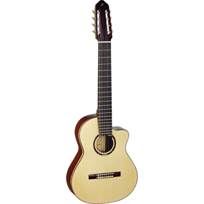 Ortega Signature Series - JRSM-COS, 8-string Classical Guitar, All Solid Wood - Spruce Top, Cocobolo Back/Sides - Handmade in Spain - Includes Heavy Duty Road Case