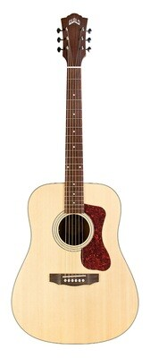 Guild D-240E Natural, Solid Sitka Spruce top, Mahogany back/sides, Natural finish, with gig bag