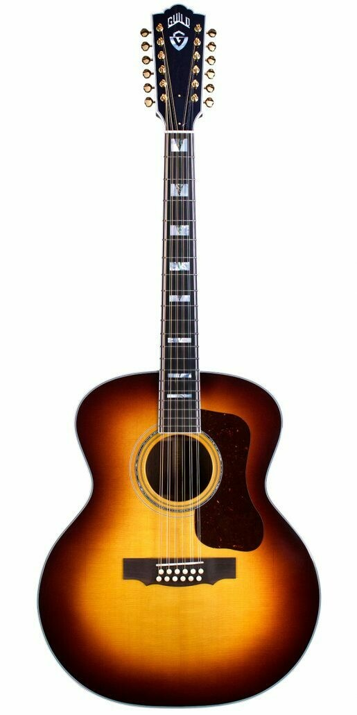 Guild F-512E Antique Sunburst - Jumbo 12 String Acoustic Electric - All Solid, AAA Sitka Spruce top, Indian Rosewood back/sides - Made in the USA