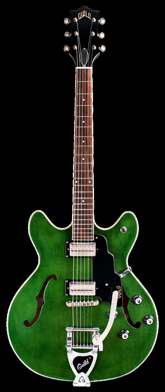 Guild Guitars Starfire I DC Semi-Hollow Body Electric Guitar, Double-Cut, Emerald Green