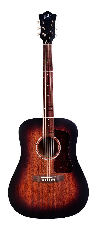 Guild D-20 - Vintage Sunburst - Solid African Mahogany Top, Back, Sides - Acoustic Steel String Guitar - Hand Made in USA